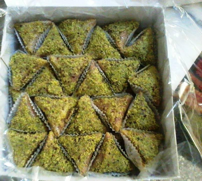 Samsa pistache. fabriqué par Pâtisserie Madame Kmar