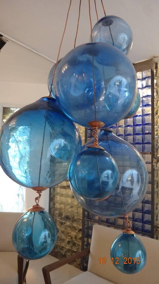 lustre boules verre souffl artisans d 39 art. Black Bedroom Furniture Sets. Home Design Ideas