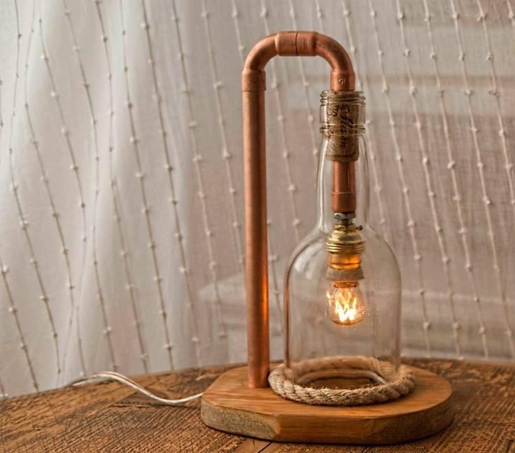 Favori Lampe Bois cuivre verre - Artisans d'Art RD71